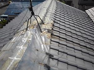 岸和田市の瓦屋根修理調査