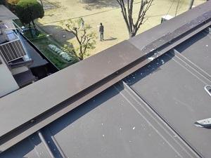 高槻市の板金屋根修理工事