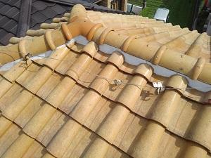 伊丹市の瓦屋根雨漏り修理調査