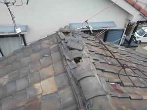 東大阪市の瓦屋根修理