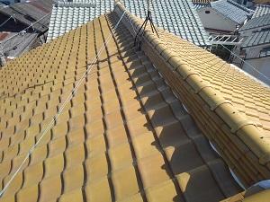 堺市の瓦屋根修理調査
