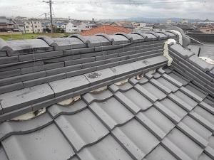 堺市中区瓦屋根修理調査