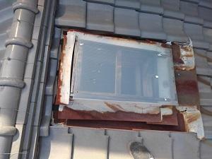 大阪市北区の屋根修理調査
