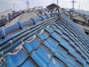 茨木市の瓦屋根雨漏り調査