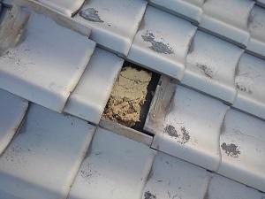 阪南市の瓦屋根修理調査