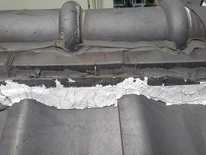 門真市での瓦屋根雨漏り修理調査