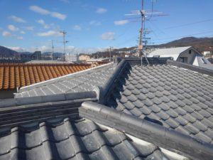 兵庫県で棟瓦の積み直し修理工事