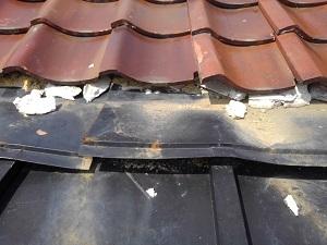 堺市での瓦屋根修理調査