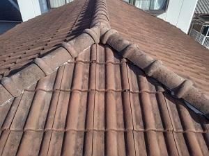 岸和田市でのスレート屋根修理工事