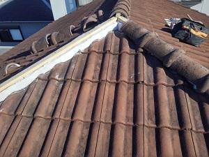 岸和田市での屋根修理工事