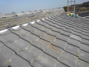 泉南市の瓦屋根修理工事