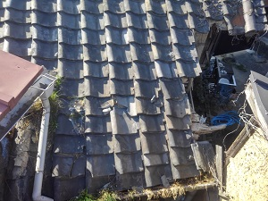 岸和田市の瓦屋根修理
