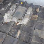 古い天窓雨漏りの修理
