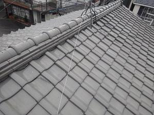 守口市での瓦屋根雨漏り原因調査