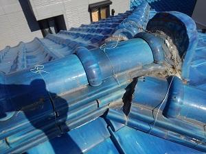 瓦屋根の雨漏り原因調査2021.8.31